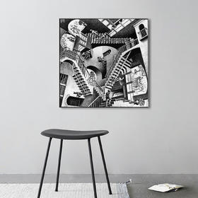 「InYard严选」矛盾空间/视错觉版画/无框有框/客厅艺术装饰画