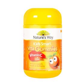 澳洲Natures Way佳思敏维生素c+锌软糖软糖60粒