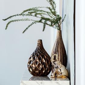 家居饰品摆件 客厅书房装饰陶瓷摆瓶 丽莎金玉瓶