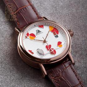 Art·Easy艺术浦东张桂铭《风起》上海牌全自动机械限量艺术手表腕表 真皮
