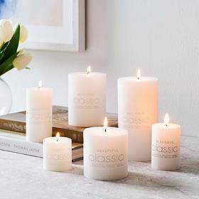 圆柱无烟无泪浪漫装饰蜡烛