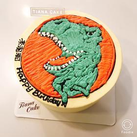 恐龙 侏罗纪 奶油蛋糕