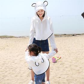 儿童防晒衣亲子装母女骑车遮阳沙滩外套出游防紫外线透气防晒披肩