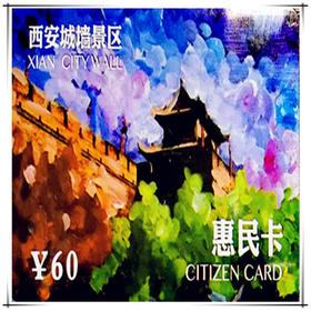 西安城墙惠民年卡