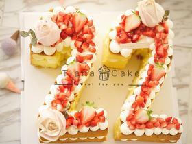 数字蛋糕 可定制字母 奶油蛋糕