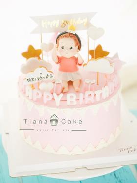 翻糖蛋糕 女宝
