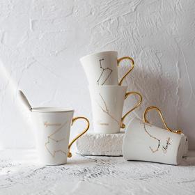 【情人节积分兑换创意12星座情侣水杯】陶瓷骨瓷马克杯办公室咖啡杯