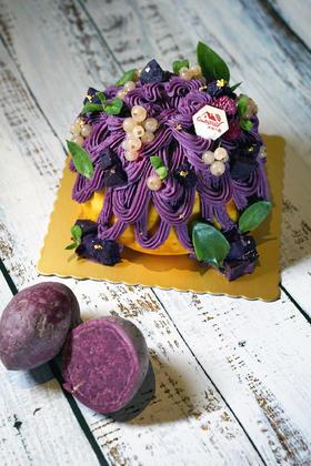 紫薯南瓜花环裸蛋糕