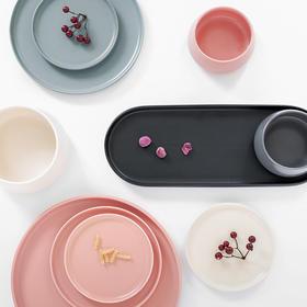 现代简约餐具 安可陶瓷碗盘西餐牛排盘钵体米饭碗早餐盘