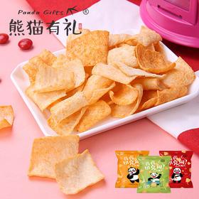 熊猫有礼  山药脆片60g*5包  香辣味,香葱味,黑椒牛排味,3种口味,一网打尽