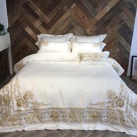 春夏家纺床上用品套件 60双股贡缎长绒棉四件套 班得瑞