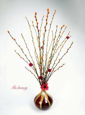 银柳创意瓶花