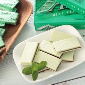【进口零食】美国进口安迪士Andes双层薄荷夹心巧克力太妃糖132g零食代可可脂