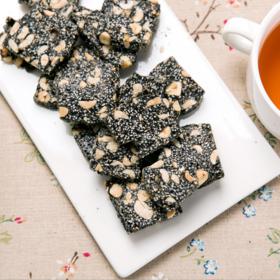 花生黑芝麻糖传统休闲食品温州特产低糖小吃零食500g