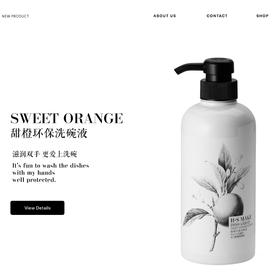 H.S MAKE  甜橙环保洗碗液  Sweet Orange Essence Dish Soap   500ml