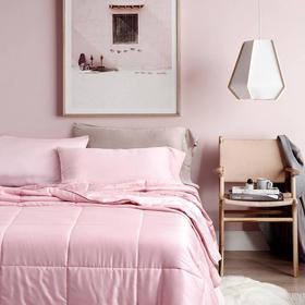 夏季新款60支兰精天丝夏被空调被 奶油粉色