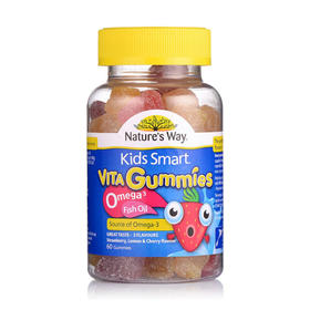 澳洲Natures Way佳思敏儿童Omega3鱼油软糖 60粒/瓶