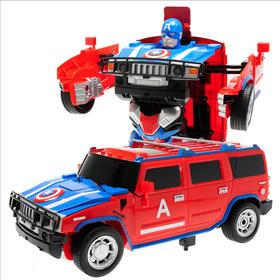 漫威美国队长 遥控悍马变形车 一键变形动感漂移 益智遥控玩具