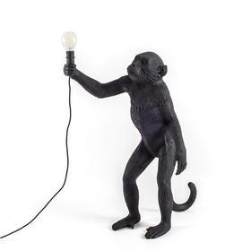 Seletti 站立式 黑色猴子灯