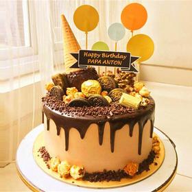 唱响青春 | 巧克力淋面生日蛋糕