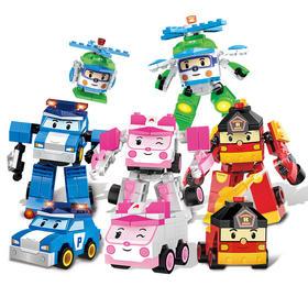 正版珀利安巴变型机器人 钻石小颗粒儿童diy启蒙拼装益智积木玩具