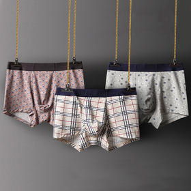 ( 两条装)达宾克兰 男士盒装内裤男平角裤透气莫代尔棉四角短裤头青年底裤衩