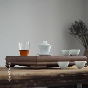 景德镇青白瓷整套功夫茶具套装现代中式泡茶器小清新盖碗家用办公