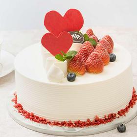 鲜莓印雪 蛋糕