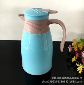 【居家】。定制新款保温壶玻璃内胆保温壶单只1升创意家用玻璃热水瓶