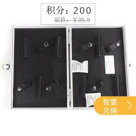 (积分兑换)鹰堡黑色皮革铝合金框6插工具盒(个)HV035A  优质高档高级美发工具剪刀盒 理发工具盒 发型师工具包/工具箱