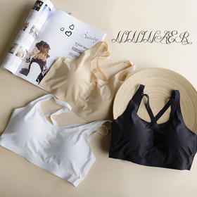 【自带按摩胸垫的裹胸】新品冰丝无缝裹胸 露肩美背 防走光