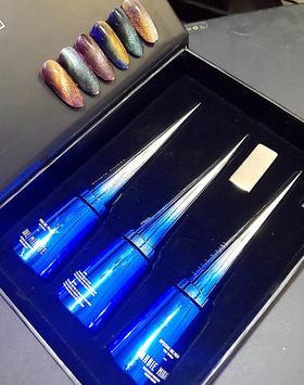 极光魅影3色笔杆胶A/B 彗星潘多拉魔盒宽猫眼胶芭比幻影