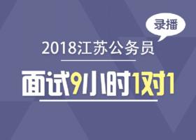 2018年江苏公务员面试9小时1对1