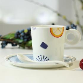 玉柏 陶瓷咖啡杯套装欧式下午茶骨瓷咖啡具奶茶杯碟勺三件套水杯