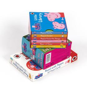(3盒装)小猪佩奇闪卡和掌上绘本,小猪佩奇 单词词汇闪卡52张 ,小猪佩奇小小图书馆:小猪佩奇