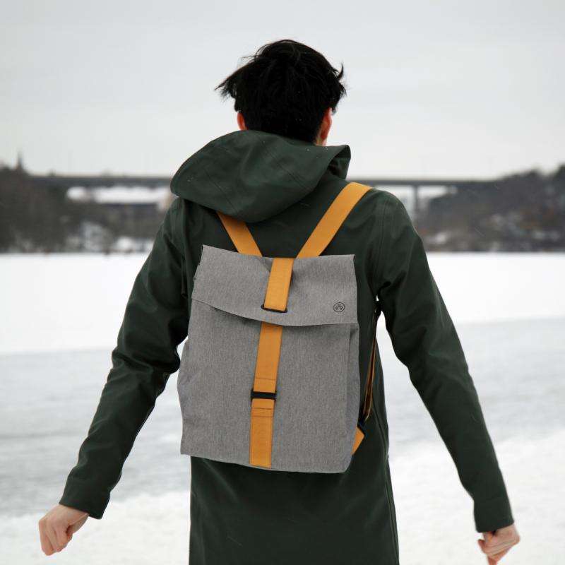 未行新品 大方北欧防水男女双肩通勤包