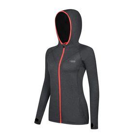 跑步指南5213 女款针织长袖连帽拉链运动外套 - 轻薄显瘦