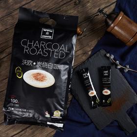 沃欧(WOW)咖啡 马来西亚产炭烧速溶白咖啡16g*100条