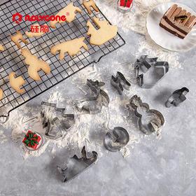 【硅丽精选】硅丽圣诞节饼干模具 | 卡通曲奇模型套装