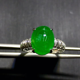 天然祖母绿戒指