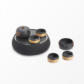 小巨蛋T8城市轻便型茶具 一壶二两杯功夫茶具便携旅行茶具套装