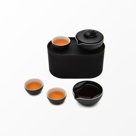小巨蛋︱城市轻便型茶具(酣睡的茶猫) 合作款 一壶二两杯功夫茶具便携旅行茶具套装