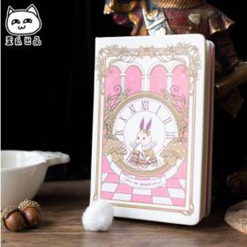 爱丽丝复古笔记本可爱迷你随身学生文具毛球记事本