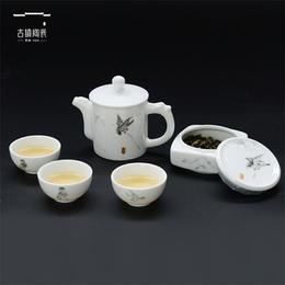 景德镇古镇陶瓷旅行便携功夫茶具茶杯套装一壶办公白瓷快客杯整套