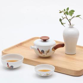 陶瓷茶具旅行茶具套装便携包户外快客杯一壶二杯2人功夫鸡缸杯