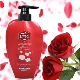 韩国进口沐浴露含百馨玫瑰沐浴露500ml保湿滋润沐浴乳