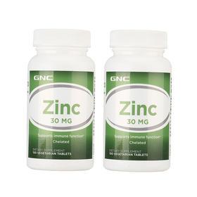 2瓶装 |【提高抵抗力】美国 健安喜 GNC 葡萄糖酸锌片 30mg 100片