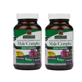 2瓶装 |【维护前列腺健康】美国 Nature's Answer 男性草本复合配方素食胶囊 90粒