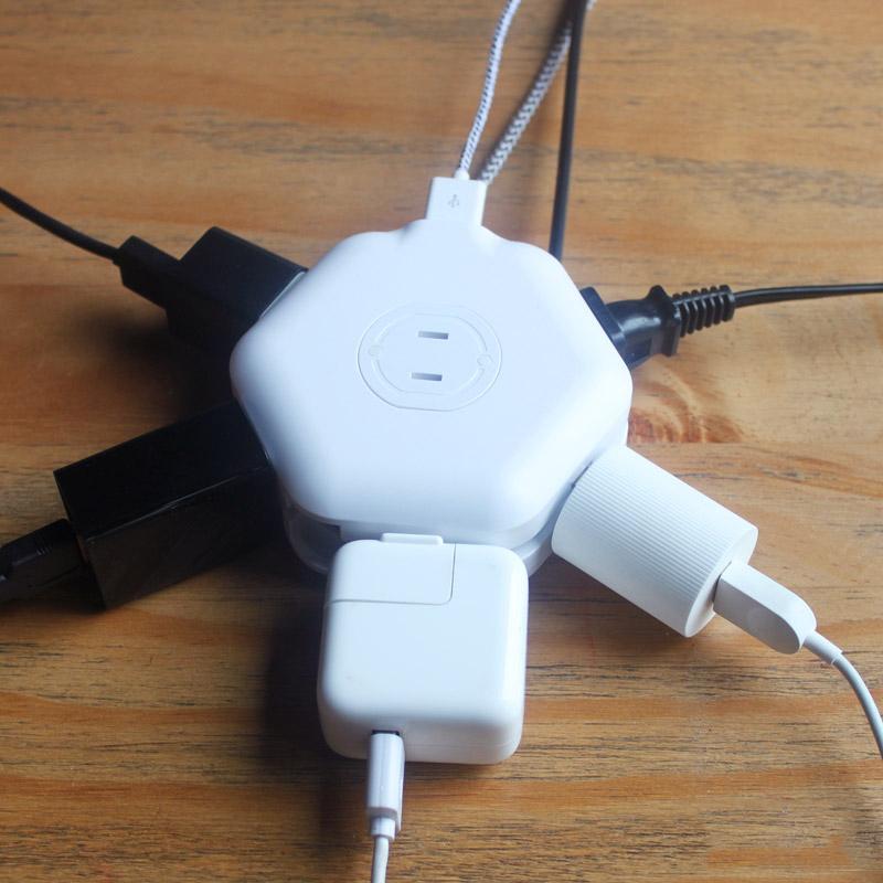 蜂巢插座 USB智能充电器【D】