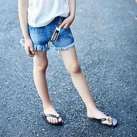 毛边织带短裤